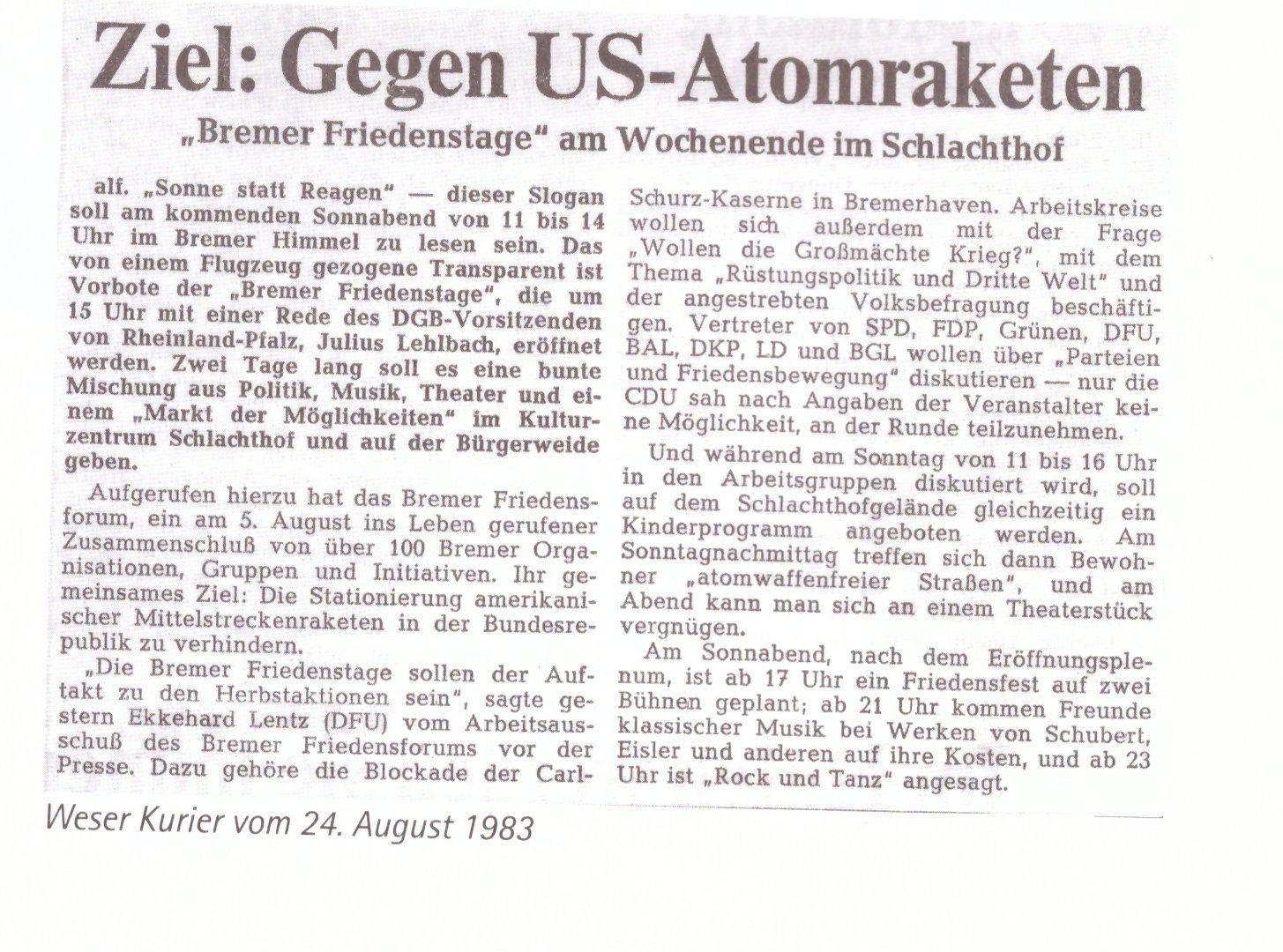 35 Jahre Bremer Friedensforum