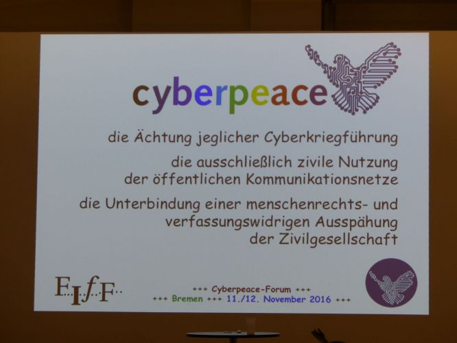 Cyberpeace-Kampagne